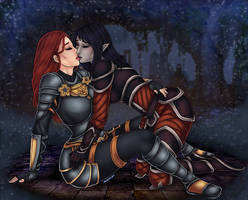 Elise and Naryu by VampireXev