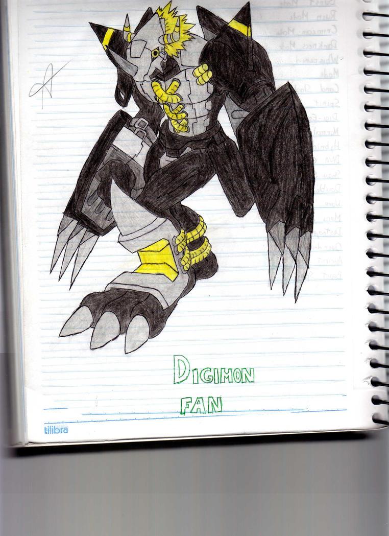 BlackWarGreymon, My Favorite Painted by Marronchoco