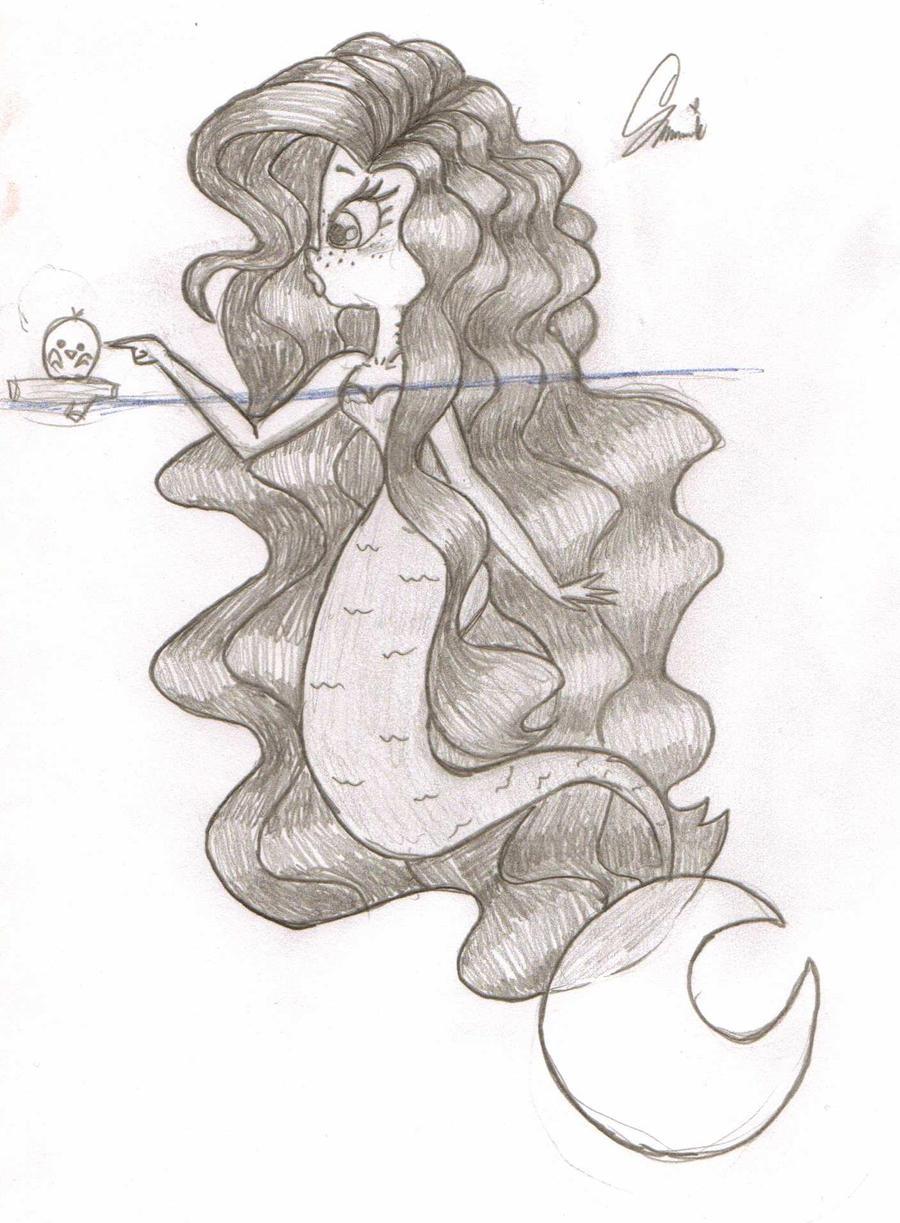 Curious Mermaid by Xanviour