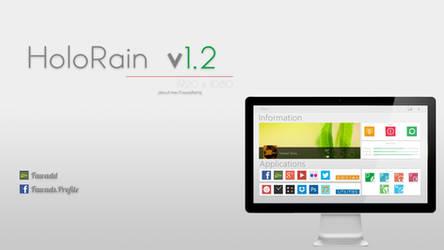 HoloRain v1.0 Rainmeter Skin by Fawadd