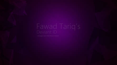 New Deviant ID | nov'13 by Fawadd
