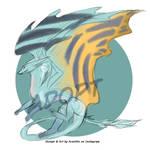 Adopt #4 feral dragon by IskraDarkdust