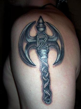 Battle Axe Tattoo Tattoo design battle axe by