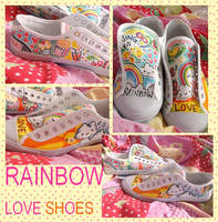 rainbow-love shoes by Ritzylicious