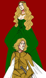 WIP: Cersei and Jaime by Anthenora