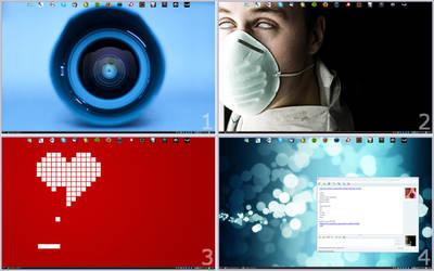 Four-way desktop : April 2009