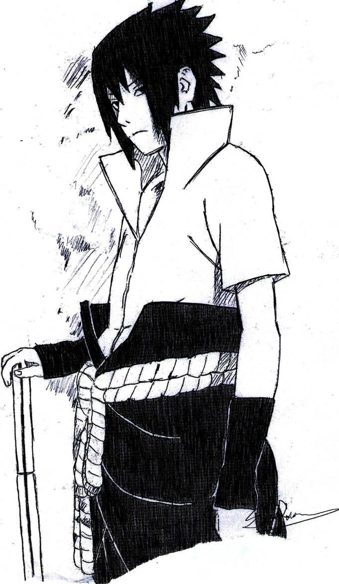 Uchiha Sasuke (Taka outfit) by 240p on DeviantArt