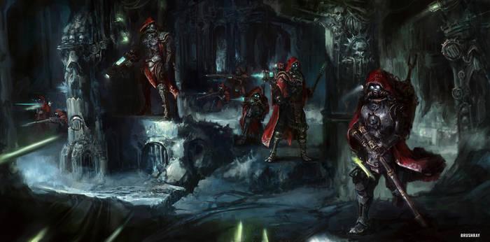 Adeptus Mechanicus squad 40k