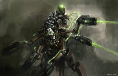 Necron Destroyer fanart