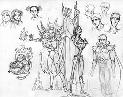 Torth villain gang by AbbyGoldsmith