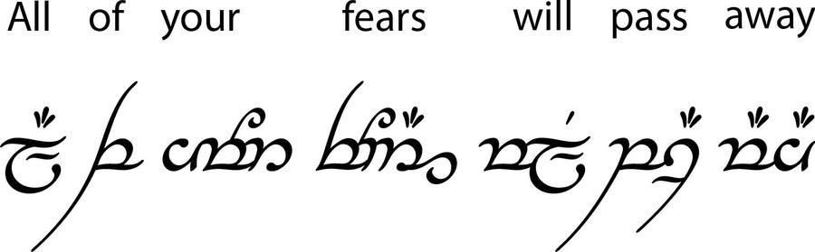 Elvish Writing Love You In I