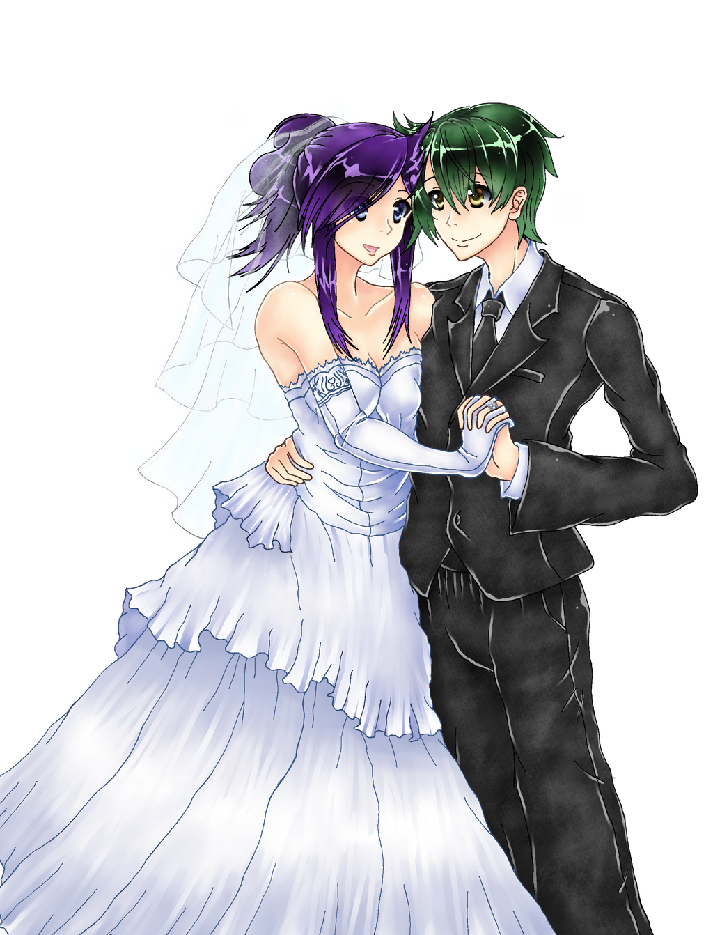 N and touko wedding - Anime Wedding Picture Commission Colored 388766166