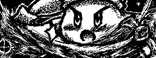 Miiverse Post - Kirby Fanart Drawing (Final Smash) by EmBeRNaGa