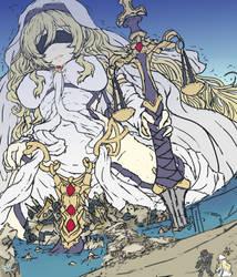 Sword Maiden WIP (GTS) - [GoblinSlayer Fanart] by EmBeRNaGa