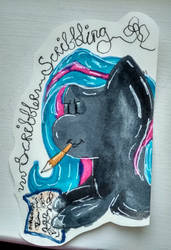 Scribbler Scribbling by QuirkyCraft