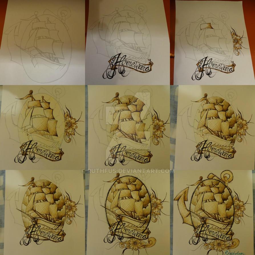 old school sailor tattoo design timeline by ruthfus on deviantart. Black Bedroom Furniture Sets. Home Design Ideas