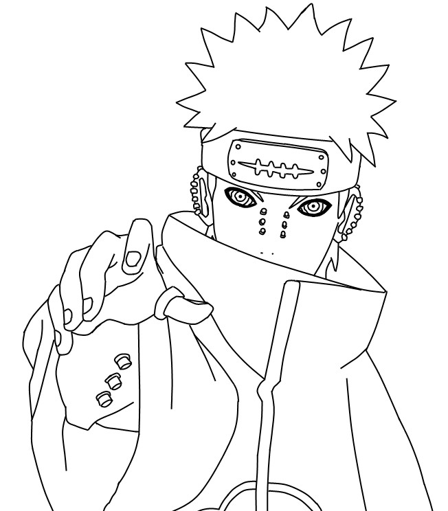 Pein Lineart 166073057 on itachi coloring pages