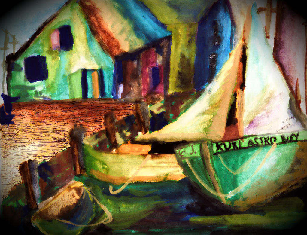 Berth 7 at Dusk by stellarsojourner