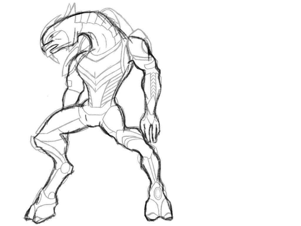 Sangheili Armour And Body Template By Wolfie369 On Deviantart