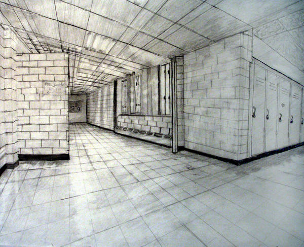 Hallway Two Point Perspective by MissMarlaxx