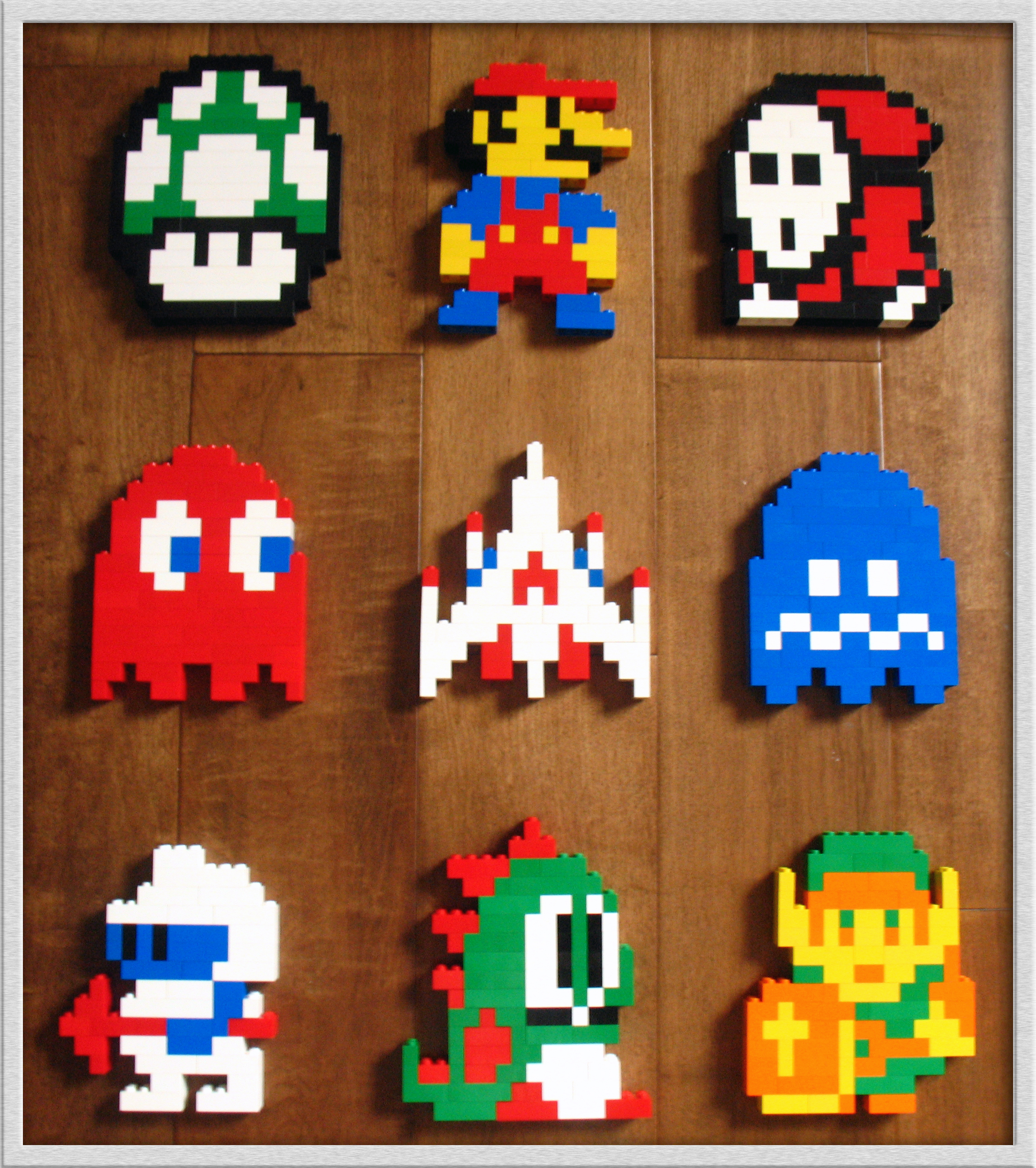 8-Bit Lego Heroes by jamesthe4