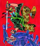 Captain Ninja vs Xenomorph
