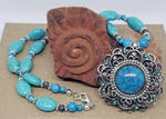 Turquoise and Vintage Necklace