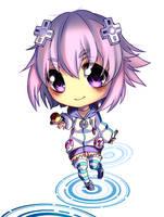 [Speedpaint] Chibi Neptunia by Askari-chan