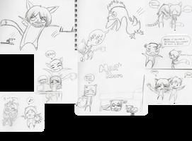 Doodle Sketchdump - December 2012 Edition