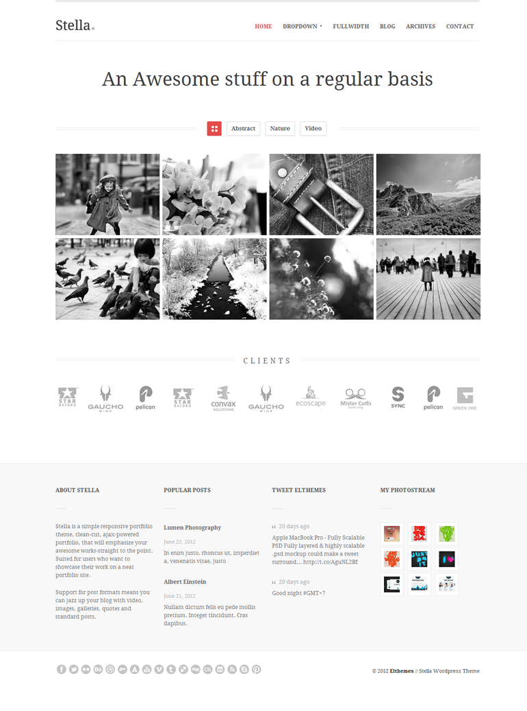 Stella Responsive Wordpress Theme - Home by elthemes