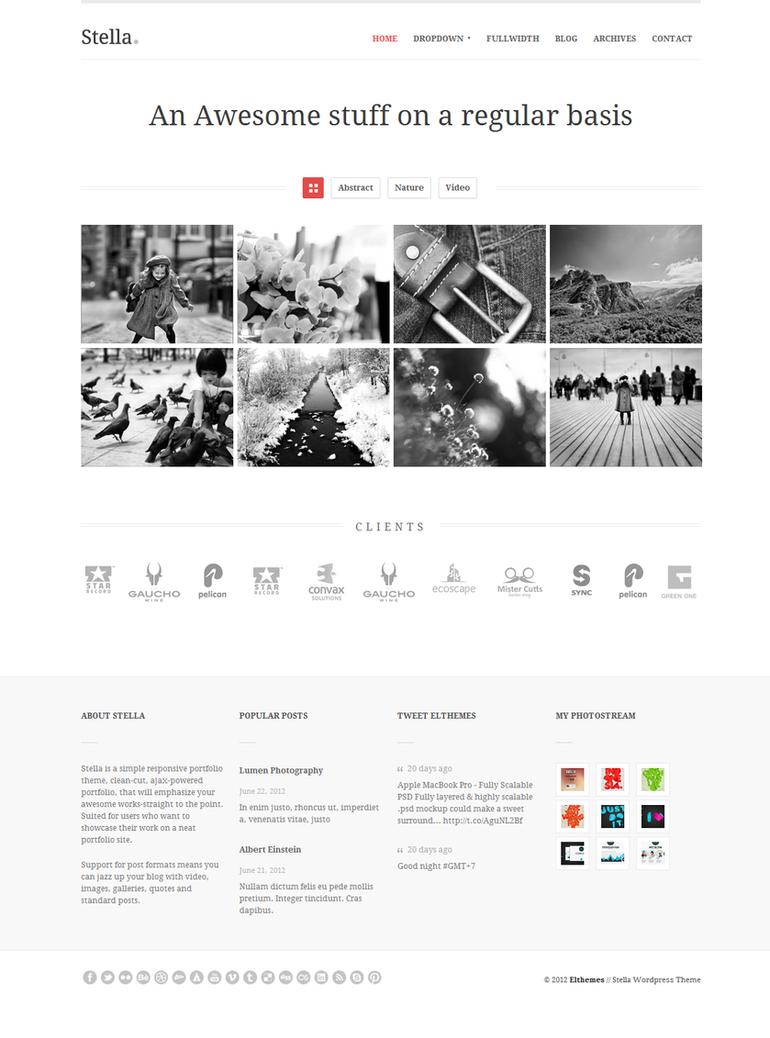 Stella Responsive Wordpress Theme - Home by elthemes