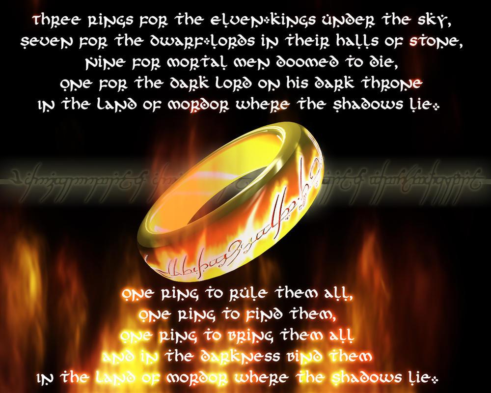 One Ring Poem In Elvish