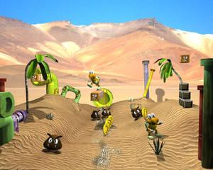 Mario in desert
