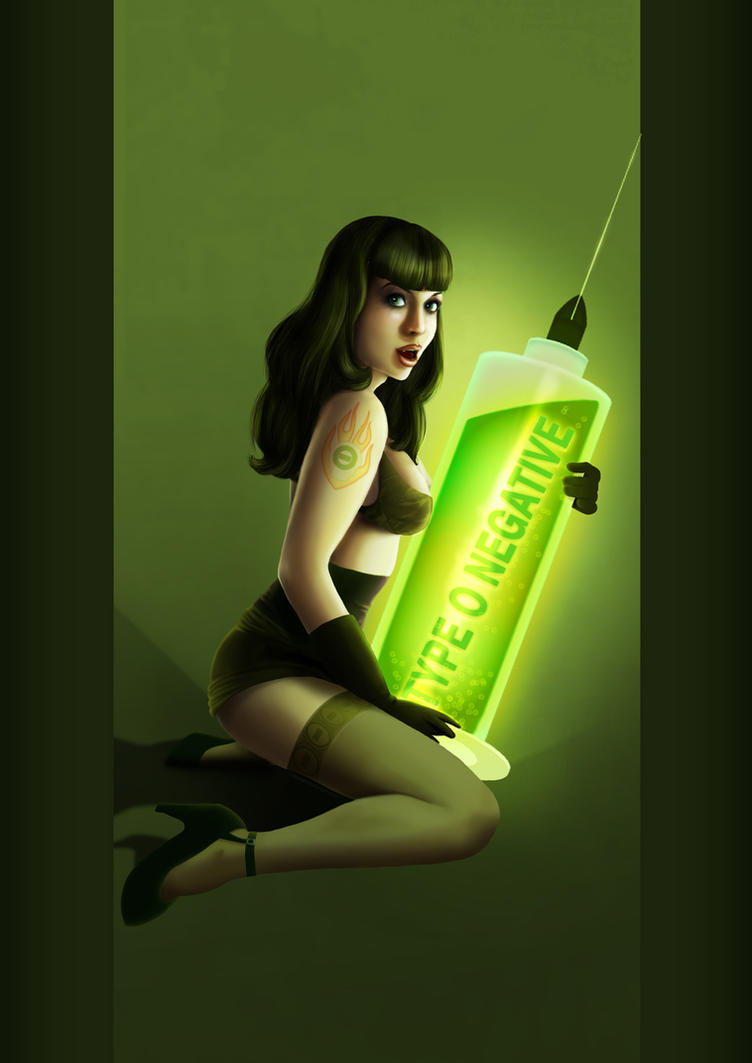Type O Negative Pin Up by liransz