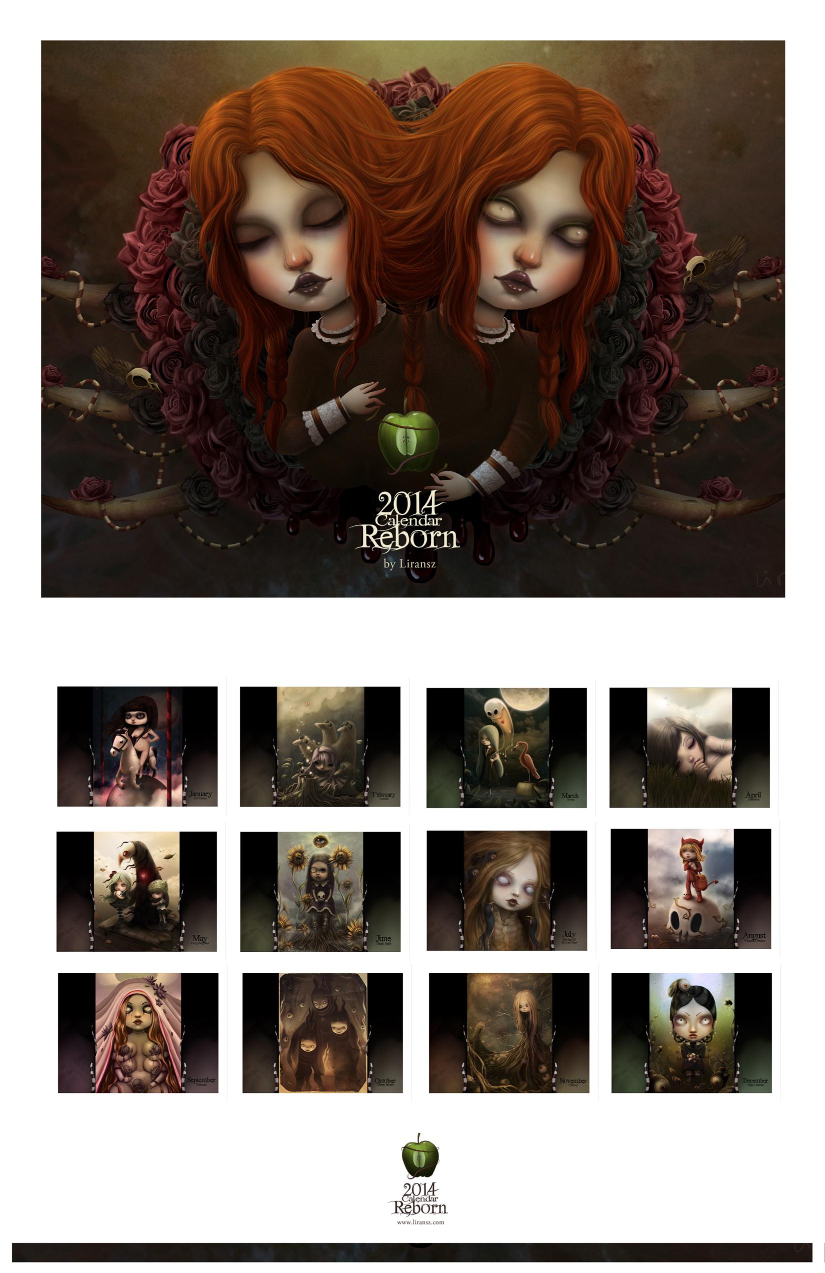 2014 Calendar Reborn by liransz