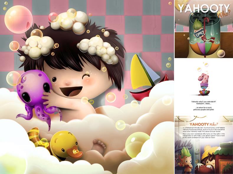Yahooty who? storybook illustration by liransz
