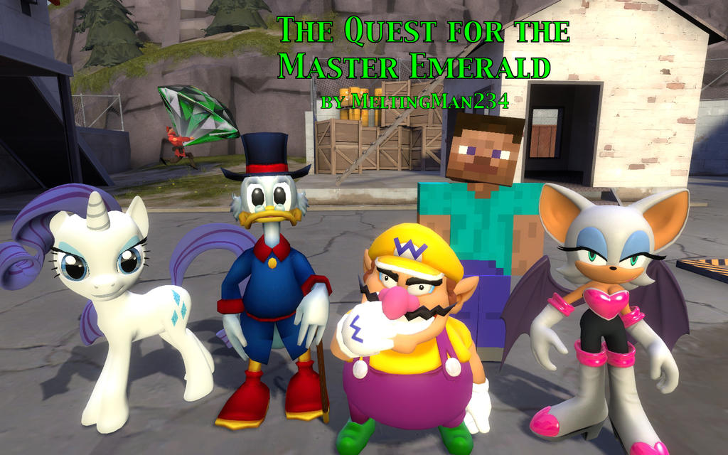 The Quest for the Master Emerald Title Card by MeltingMan234
