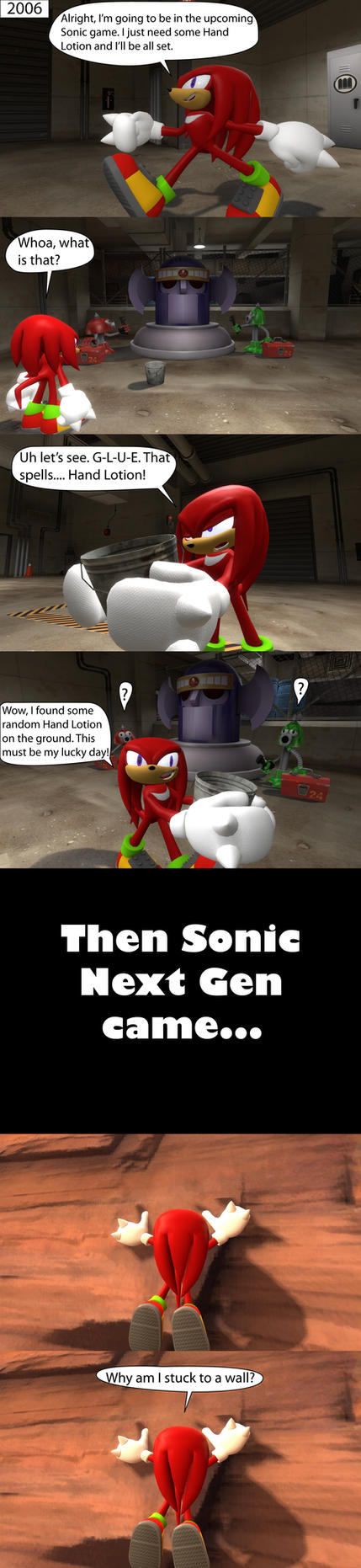 Knuckles the Idiot 5 by MeltingMan234