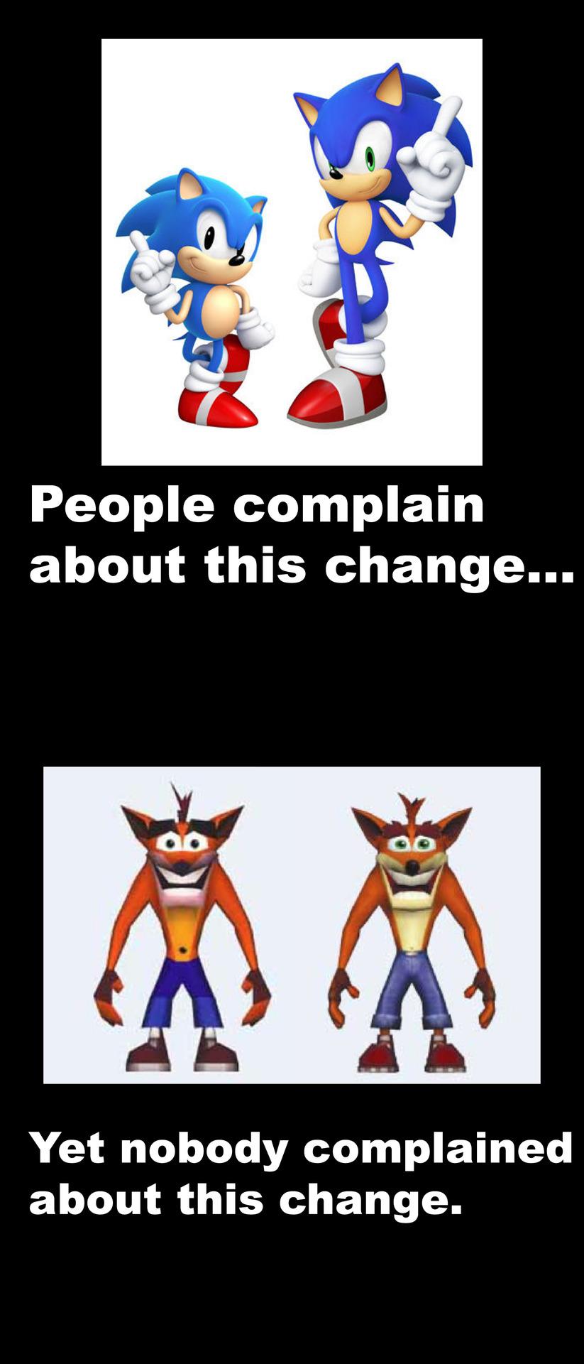 Sonic Redesign Meme by MeltingMan234 on DeviantArt