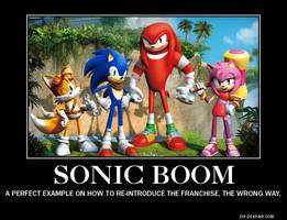 Sonic Boom Demotivational Poster by MeltingMan234