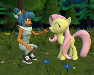 Megumi meets Fluttershy