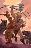 He-Man vs Beast Man by MarkHRoberts