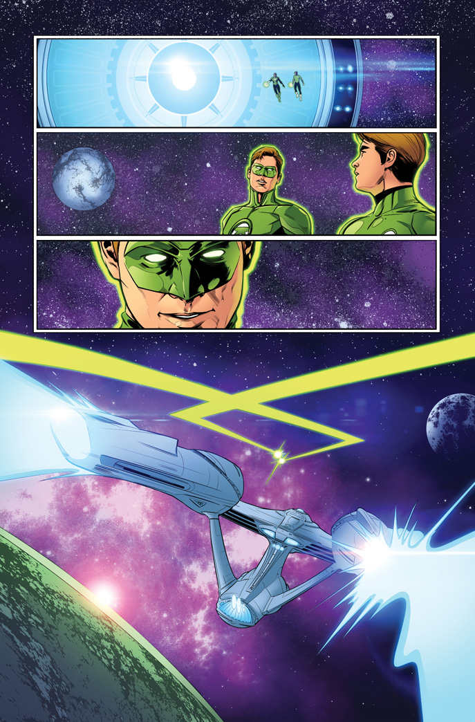 Star Trek/Green Lantern 06 20 by MarkHRoberts