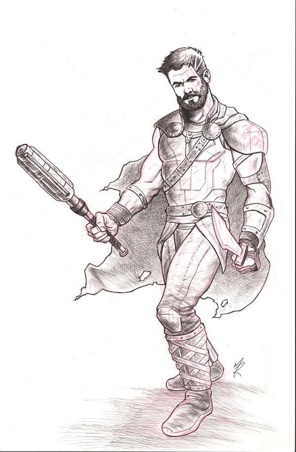 Thor Ragnarok by MarkHRoberts