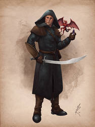 Human Warlock by MarkHRoberts