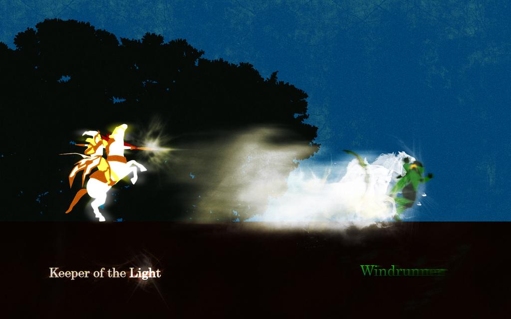 dota2 keeper of the light vs windrunner by andreiapm on deviantart
