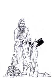 vampiro y payasos by LordConstanta