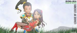 Xin Zhao X Irelia (League of Legends Fan Art) by asadfarook