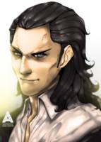 [Supervillain portraits] Casual Loki by asadfarook