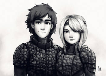 Hiccup and Astrid (How To Train Your Dragon 3)